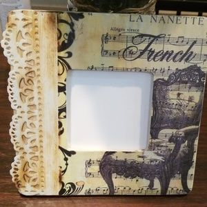 Other - Woodburned and decoupage picture frame